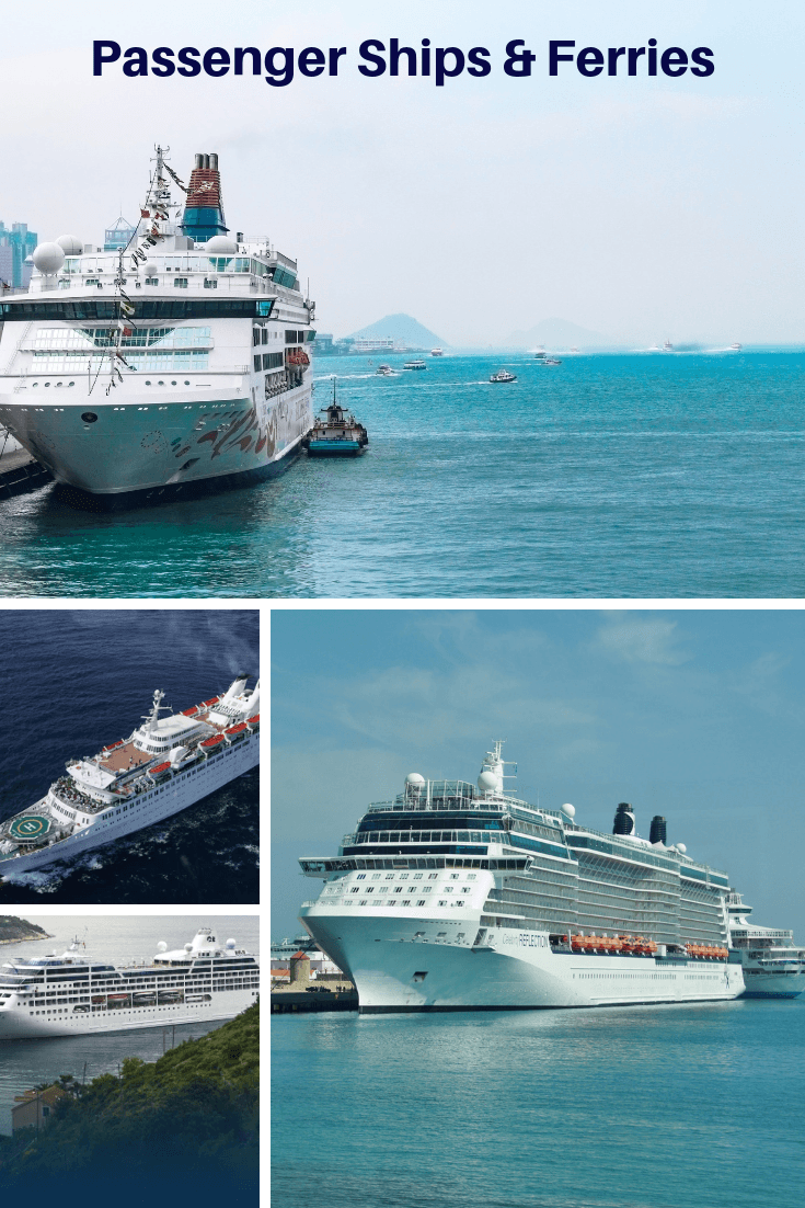 Passenger Ships and Cruise Ships, ferries and ROPAX